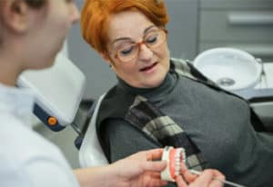 woman about to undergo a dental procedure
