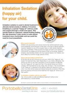 Inhalation sedation for your child